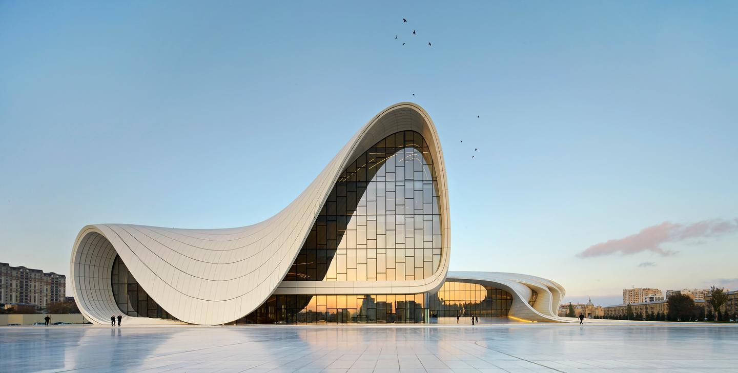The Heydar Aliyev Center in Baku, Azerbaijan (Photo: Hufton and Crow)