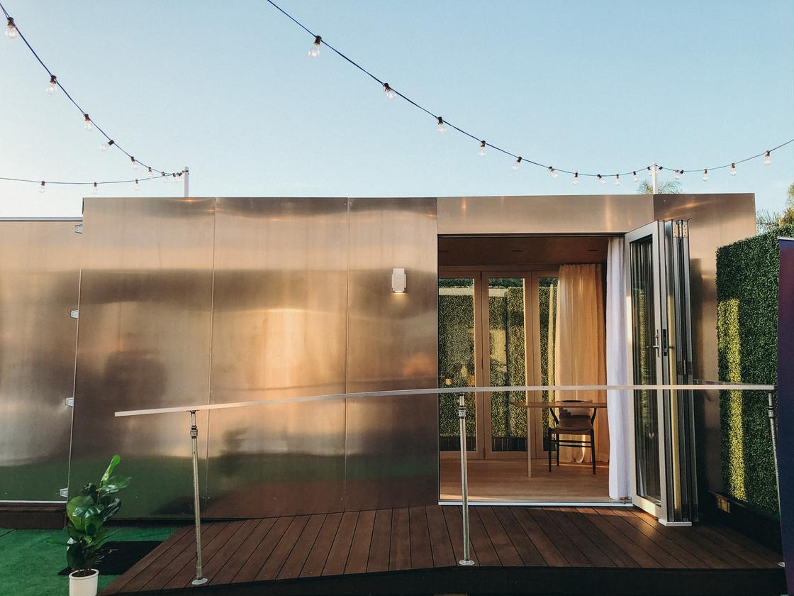 Buhaus luxurious tiny dwelling is made from repurposed shipping containers