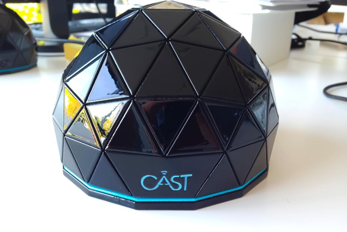 The actual Genii Cast Hub can fit on an open hand, and packs hardware capable of seamlessly receiving, mixing, and managing multiple HD streams