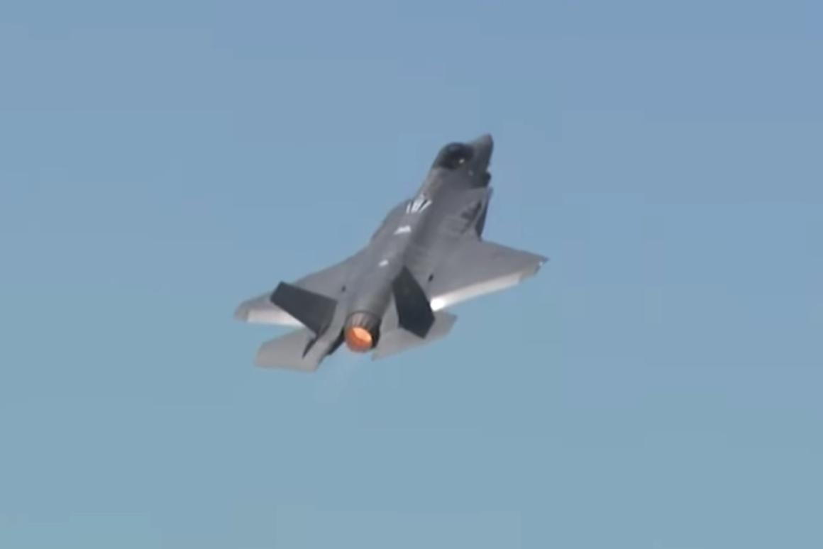 The F-35 takes to the skies over Paris in its first public aerial demonstration