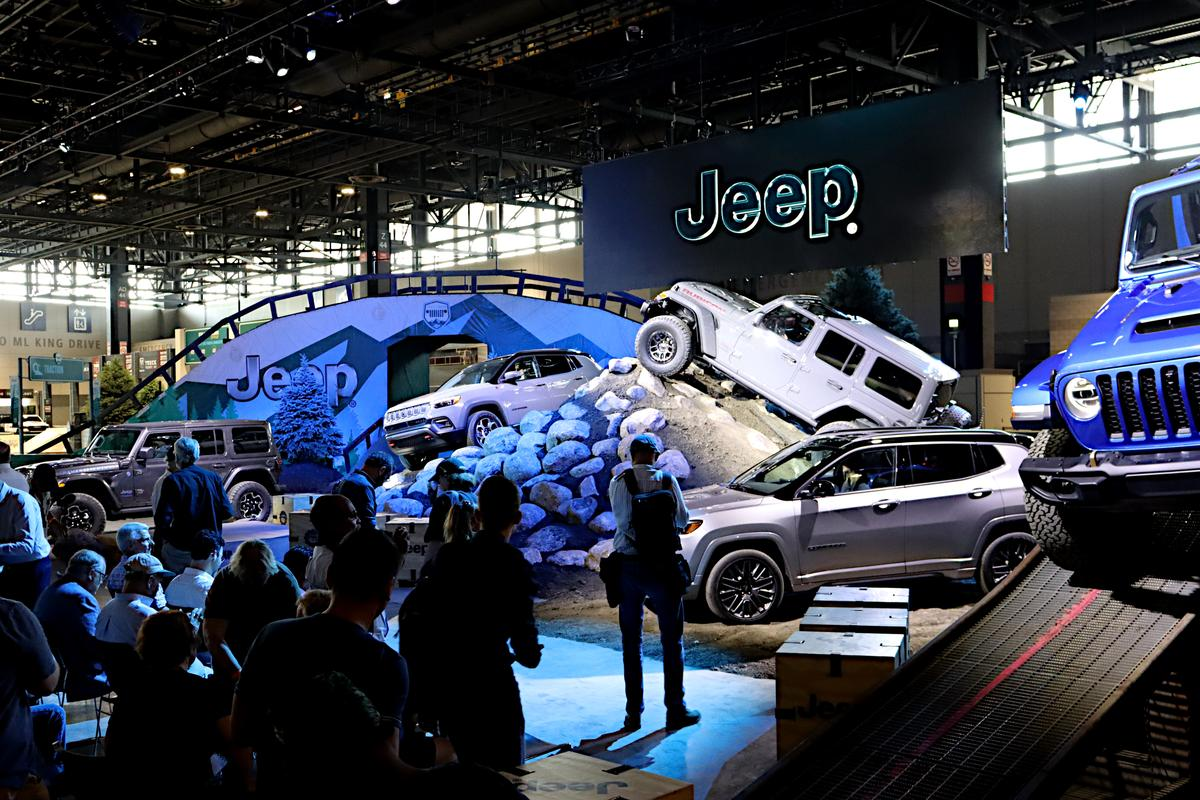 Jeep is busy at the Chicago Auto Show with the unveiling of new packages, product, and an indoor track experience