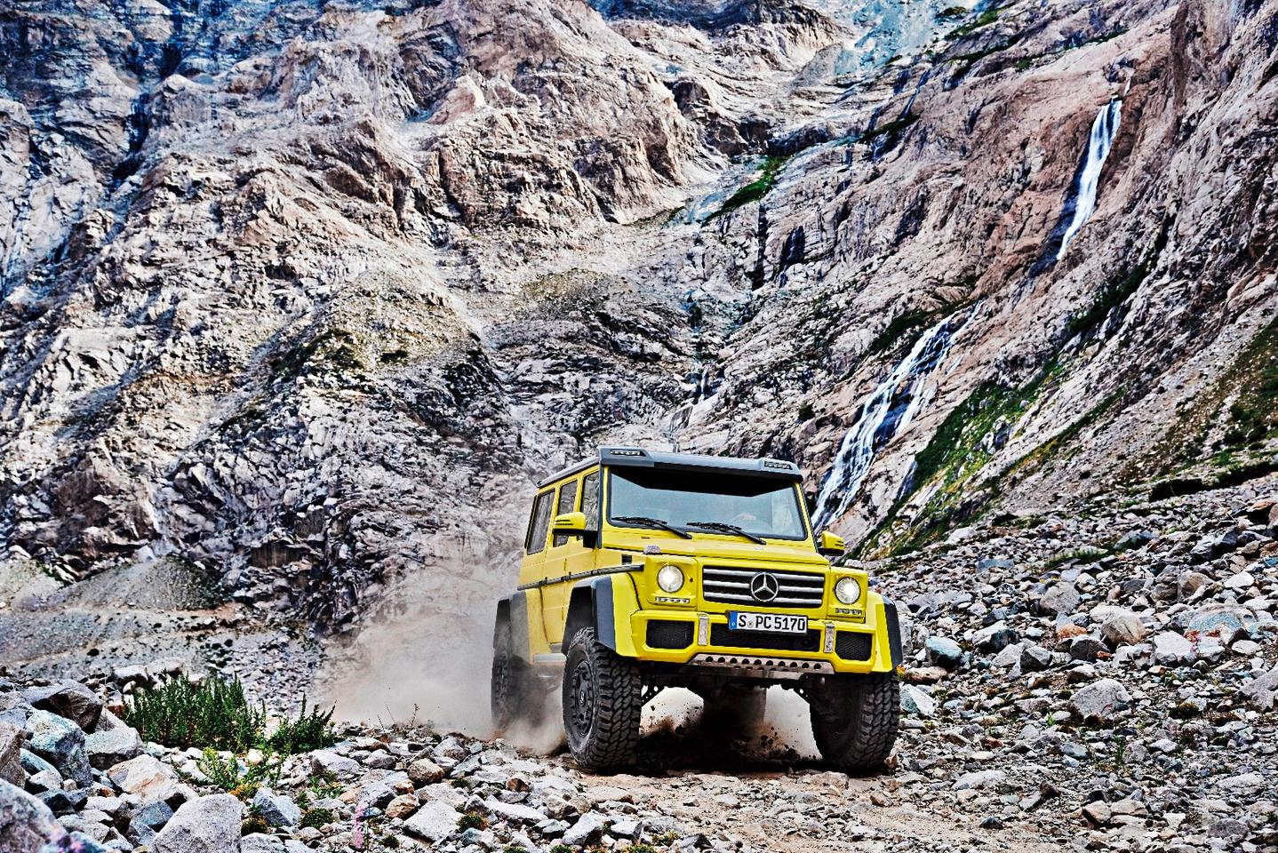 "The Mercedes G500 4x4 Squared increases your off-roading capability ""exponentially"""