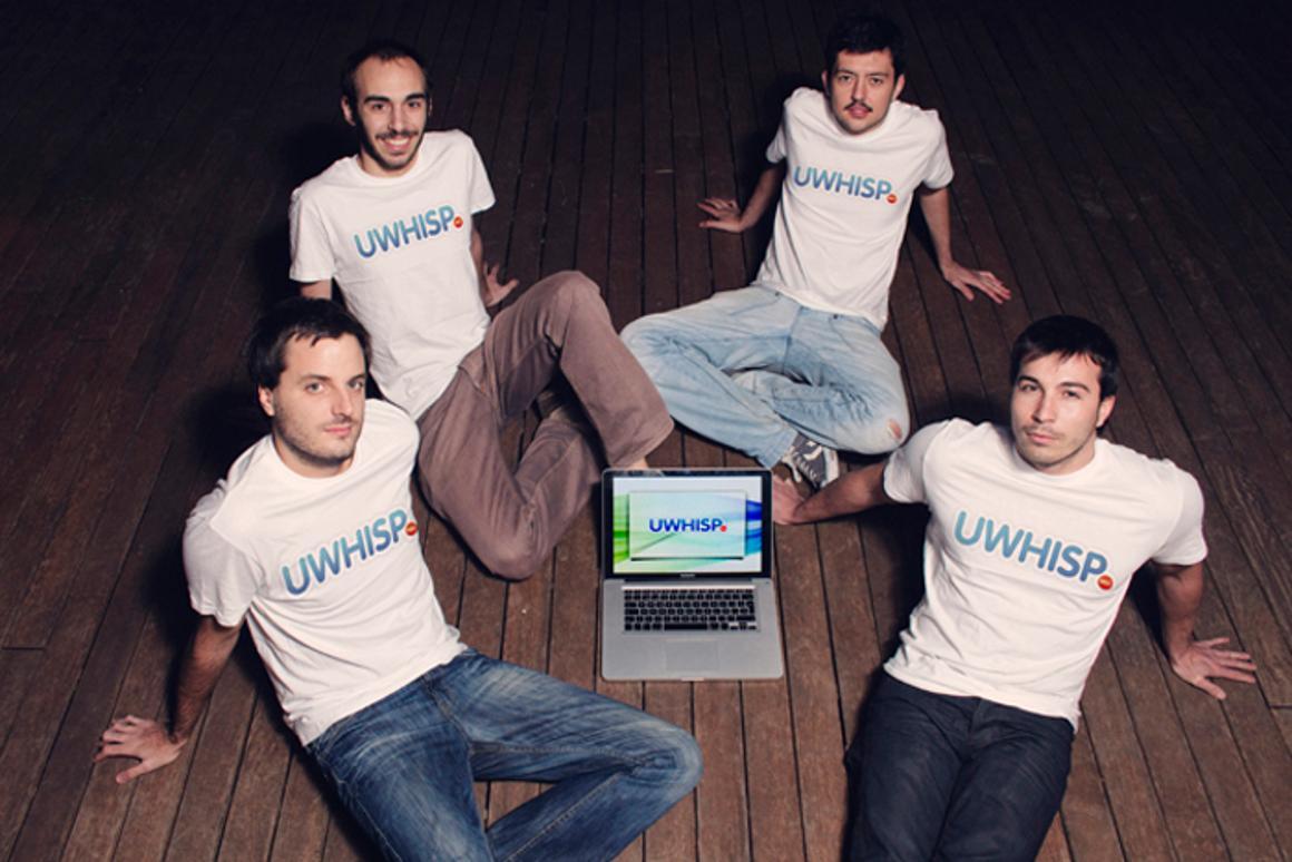 uWhisp creators Iuri Aranda, Joan Casas, Miquel Las Heras and Miquel Puig