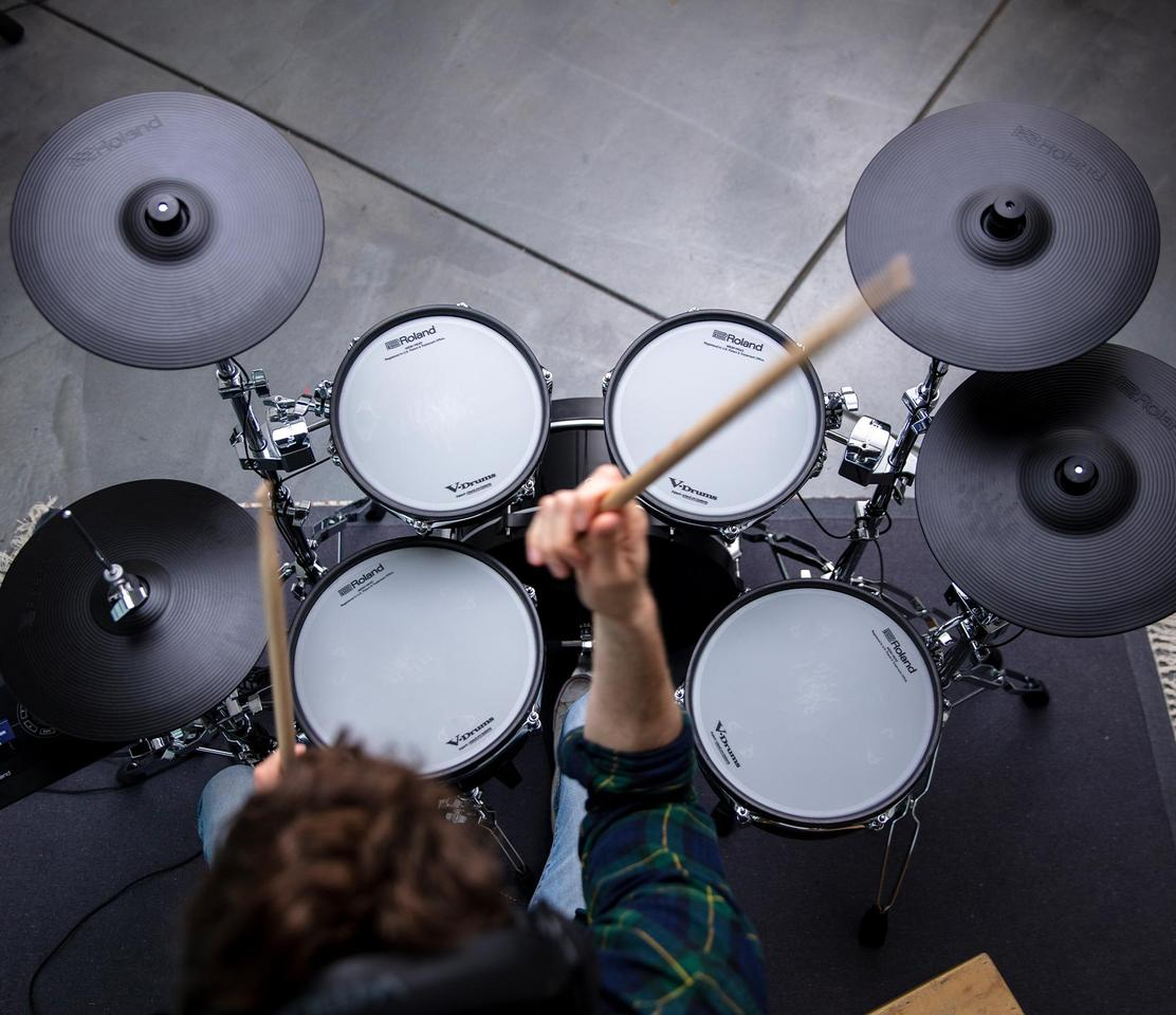 Roland is promising a traditional feel and response from the latest V-Drums, as well as the center-stage look of acoustic kits