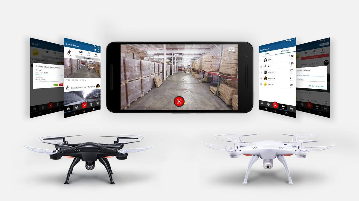 Racing drones with app