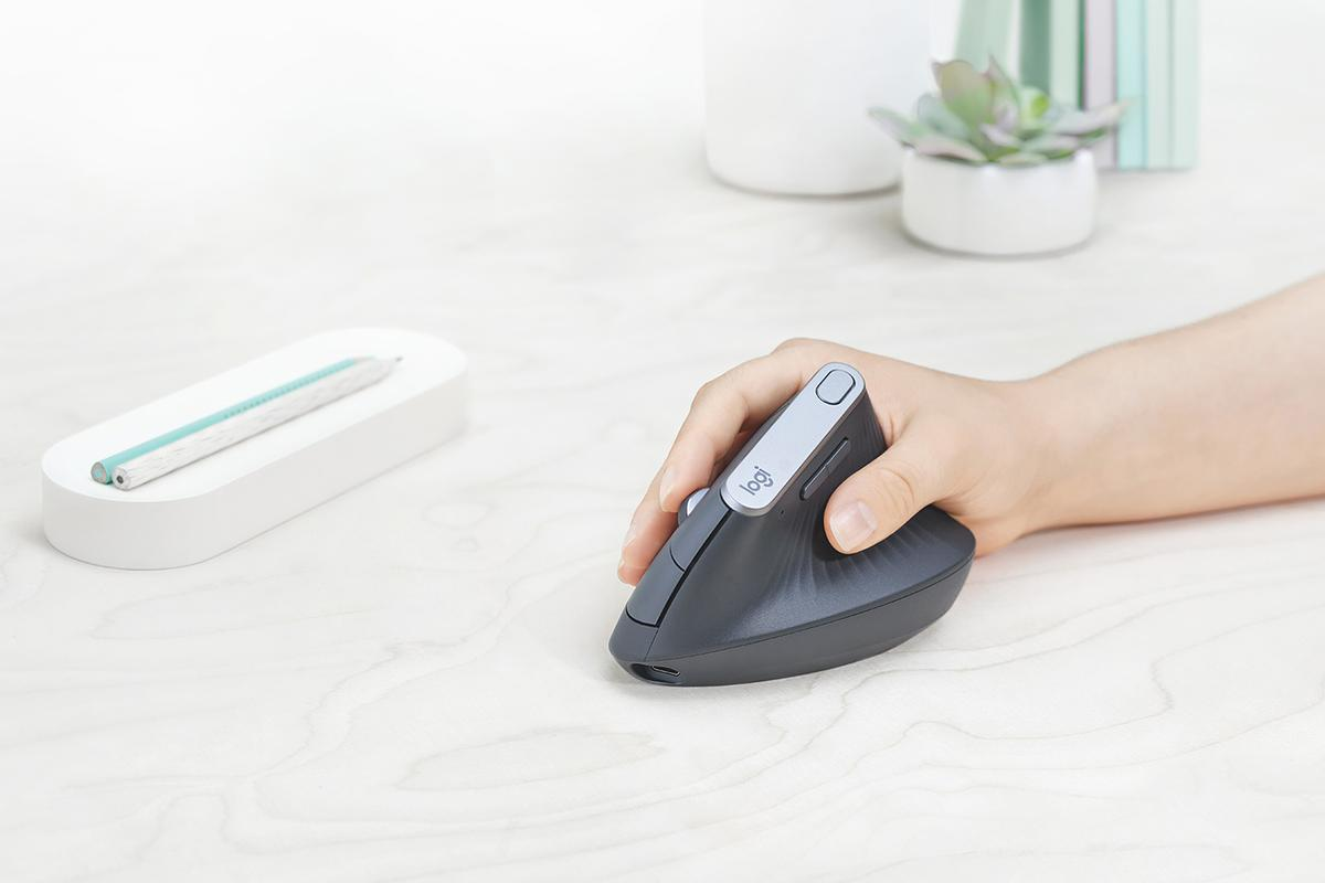 Logitech says its MX Vertical mouse reduces wrist strain by 10 percent