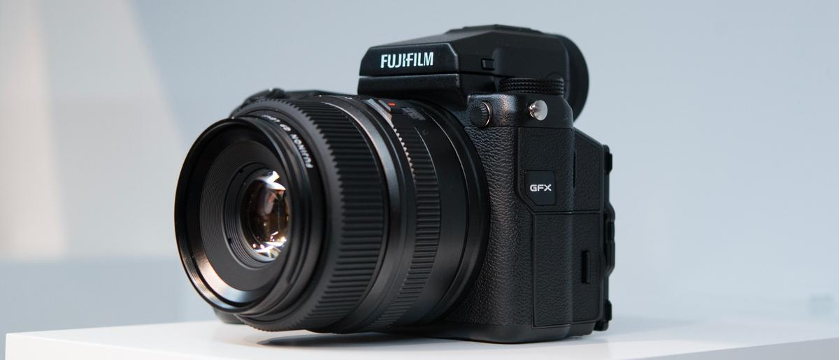 TheFujifilm GFX 50S mirrorless medium format camera