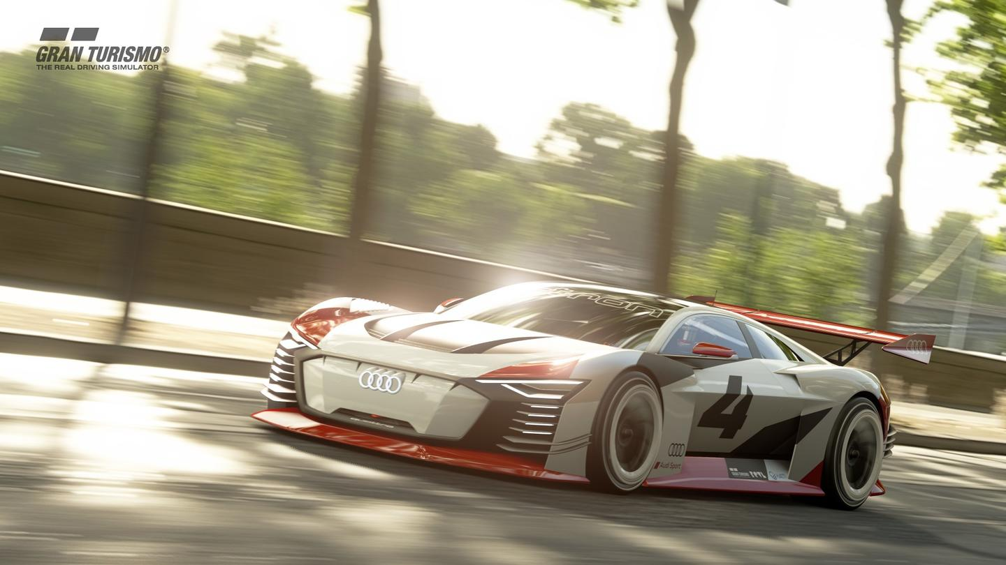 The Audi e-tron Vision Gran Turismo was originally designed for the PlayStation 4 game Gran Turismo as a virtual race car