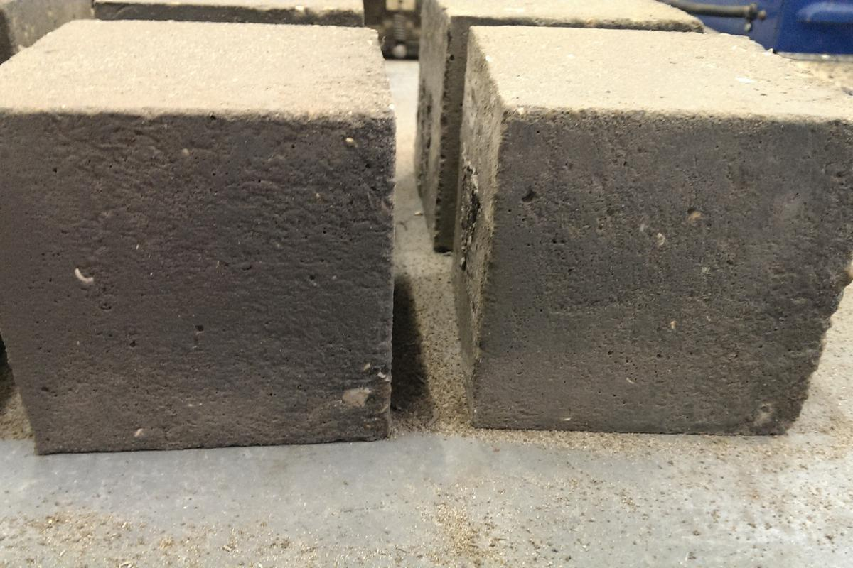 Samples of the graphene-enhanced concrete