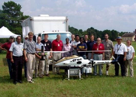 The proud team at the Unmanned Aerial Vehicle Research Facility. The UAVRF is housed in the School of Aerospace Engineering at the Georgia Institute of Technology in Atlanta, Georgia.