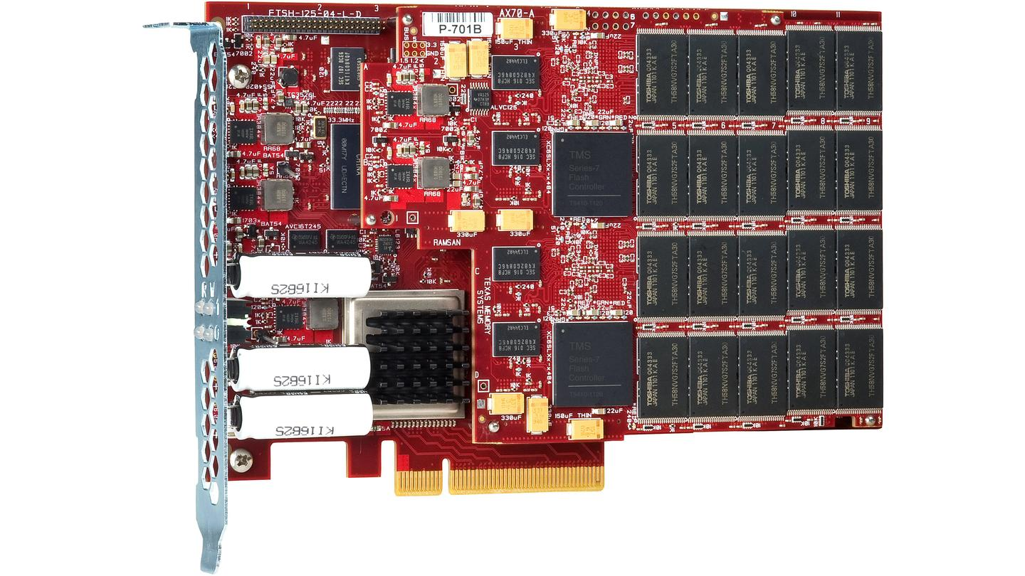The new RamSan-70 PCIe SSD is said to offer up to 330,000 IOPS (Input/Output Operations Per Second) read performance and 160,000 write, and up to 2GB per second sustained random throughput