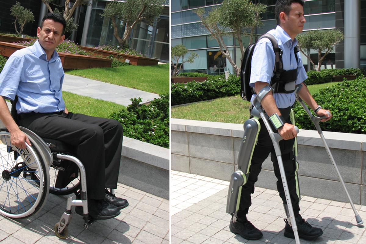 The ReWalk robotic exoskeleton is designed to get paraplegics out of their wheelchairs