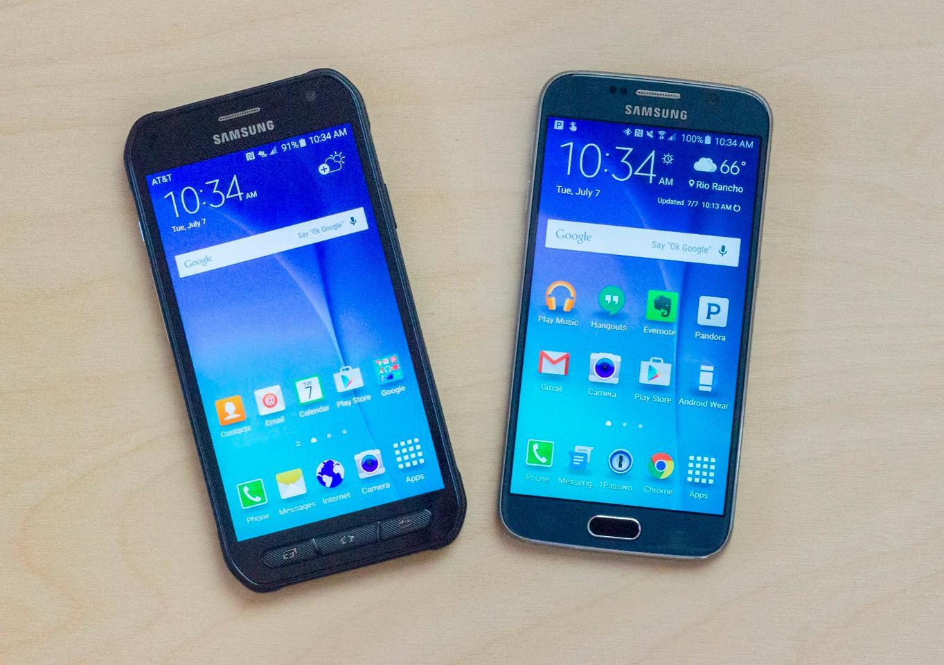 Samsung Galaxy S6 Active vs  Galaxy S6: Up close