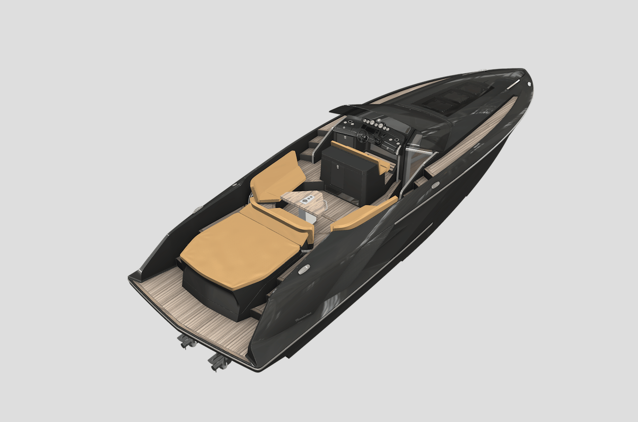 The all-new Frauscher 1414 Demon will go from rendering to live boat at the 2016 Boot Düsseldorf show in January