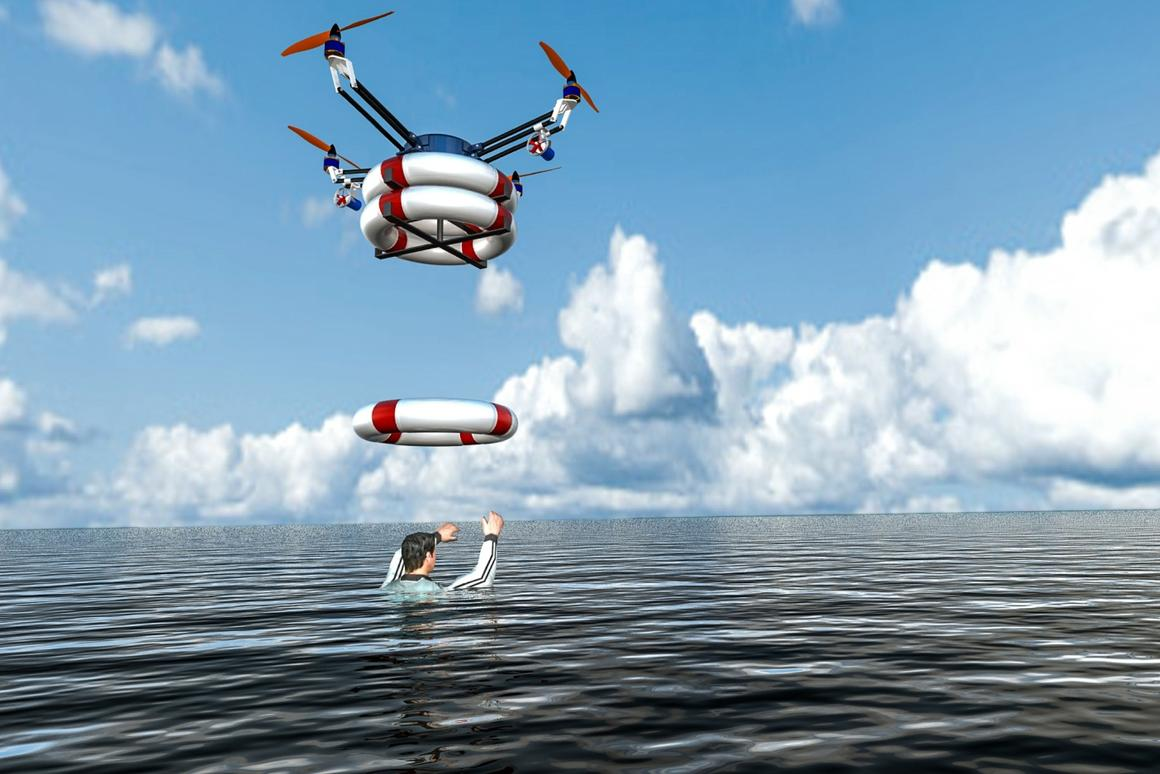 RTS Lab is developing Pars, a robotic quadcopter that launches from a floating platform and drops life preservers near people in the ocean who are in trouble