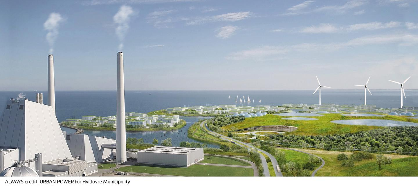 Holmene will produce a lot of green energy from wind turbines and what Urban Power calls the largest Waste-to-Energy plant in Northern Europe