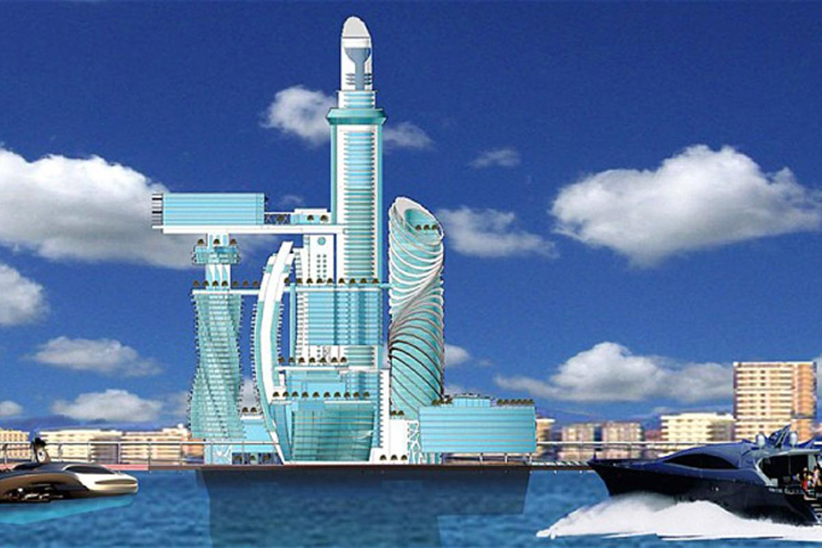 """Europe's first man-made island and """"space hotel"""" by US based company Mobilona"""