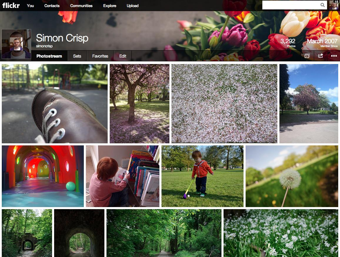 Flickr has been redesigned with much more focus on the photographs