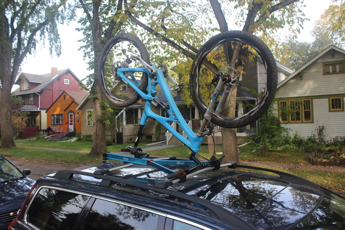 The Upside Rack works with almost all types of bikes