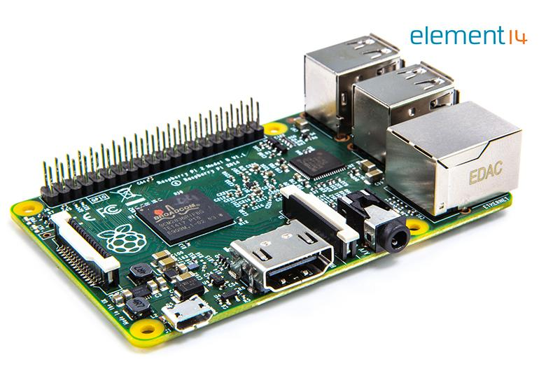 The new Raspberry Pi sports a quad-core processor and 1GB of RAM.