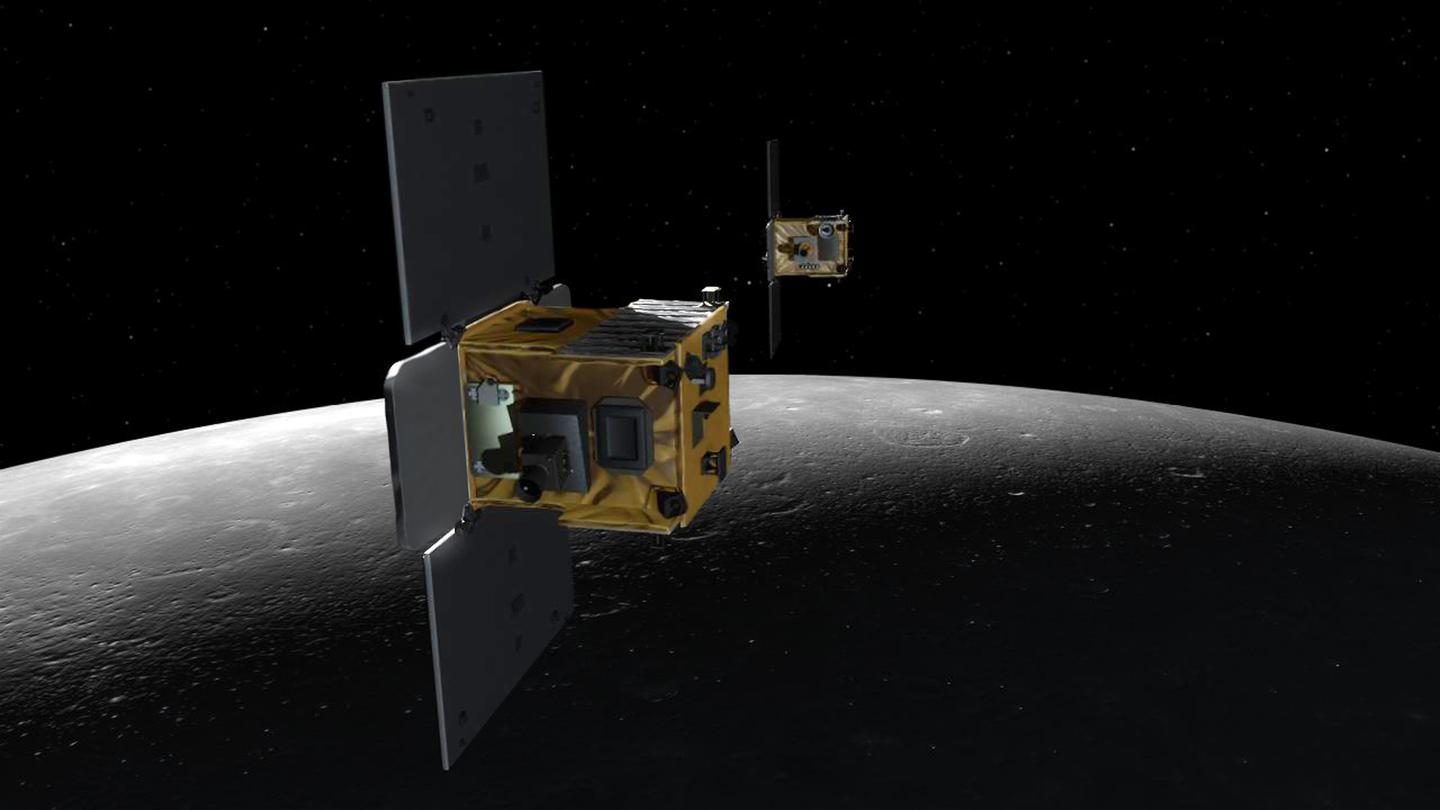 Artist's concept of the GRAIL spacecraft (Image: NASA)