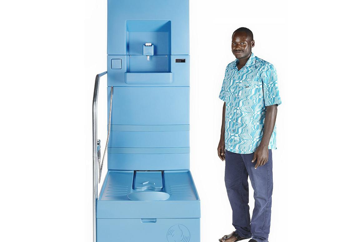 The closed-system Blue Diversion toilet is designed for off-grid use