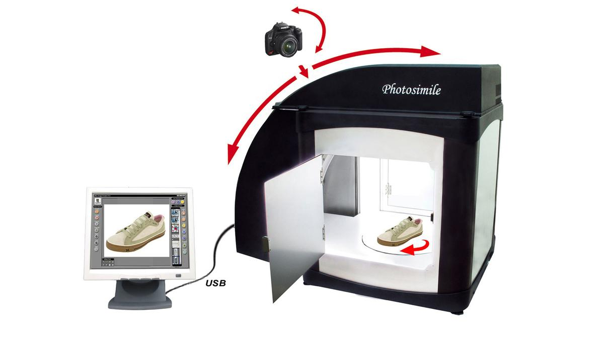 The Ortery Photosimile 5000 desktop photography studio