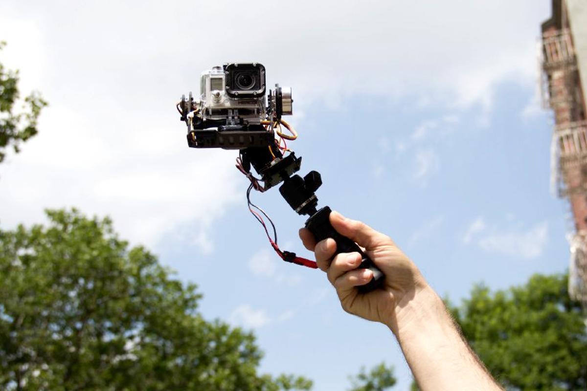 The motorized, computerized STABiLGO GoPro stabilizing rig