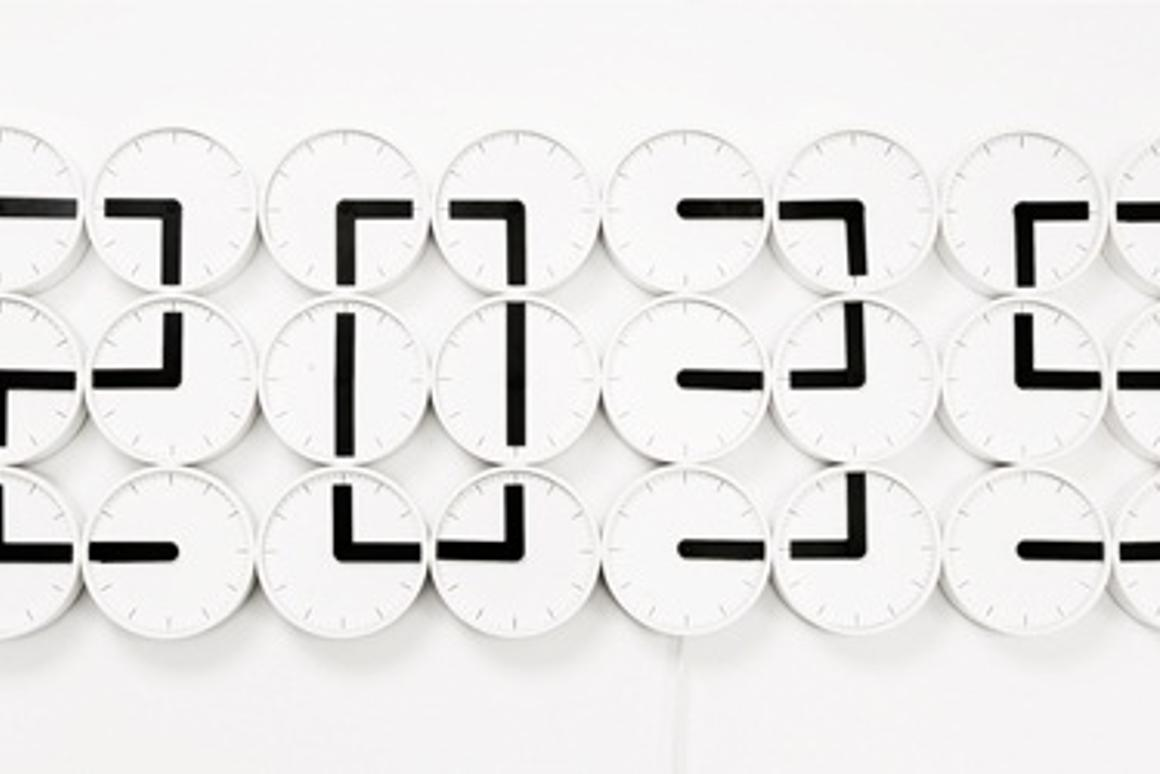The Clock Clock from Humans Since 1982 showing 20:35