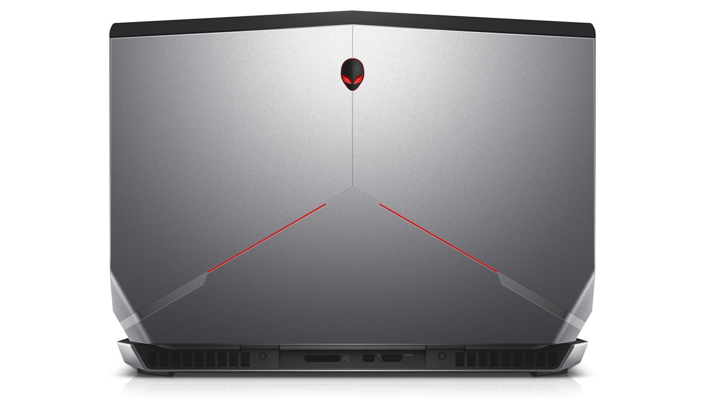 The refreshed Alienware 15 rear view