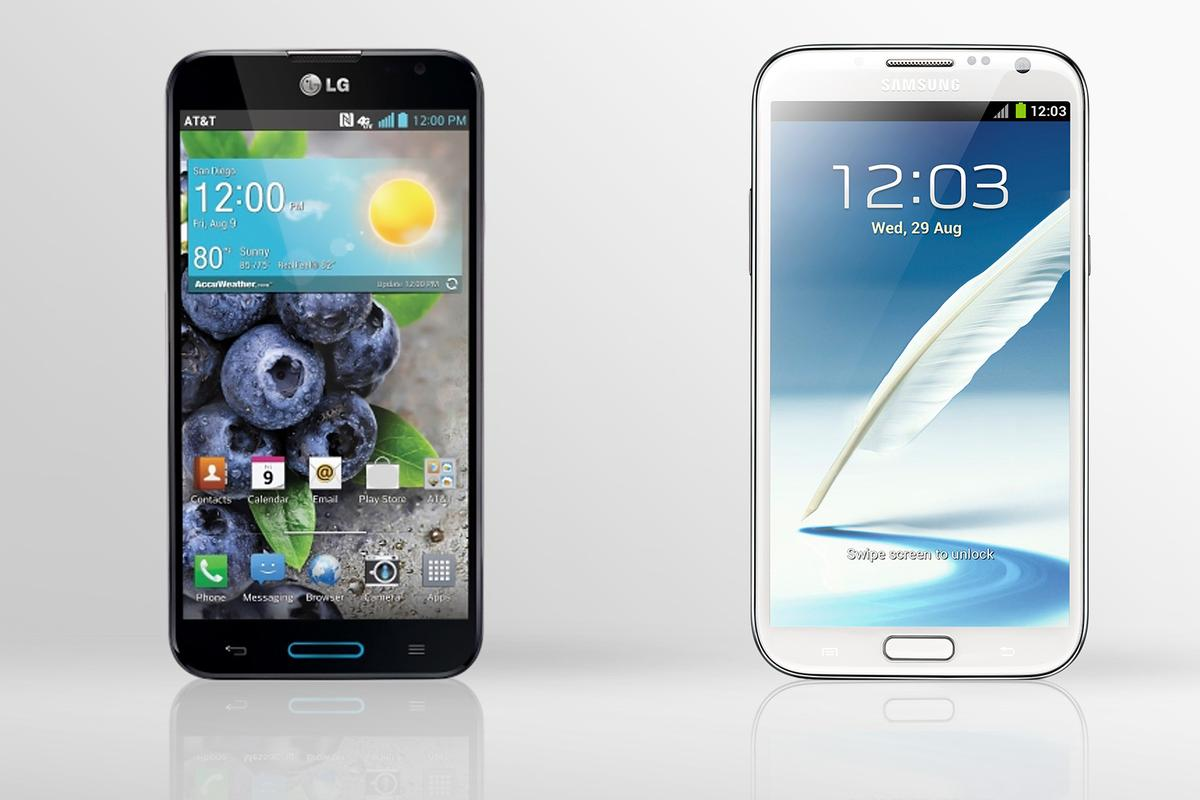 Gizmag compares the specs (and other features) of the LG Optimus G Pro and Samsung Galaxy Note II
