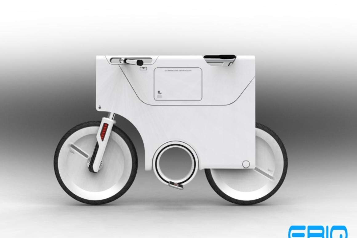 The Electric Bike Version 2 also features a compartment for storing and charging mobile phones, notebooks or MP3 players