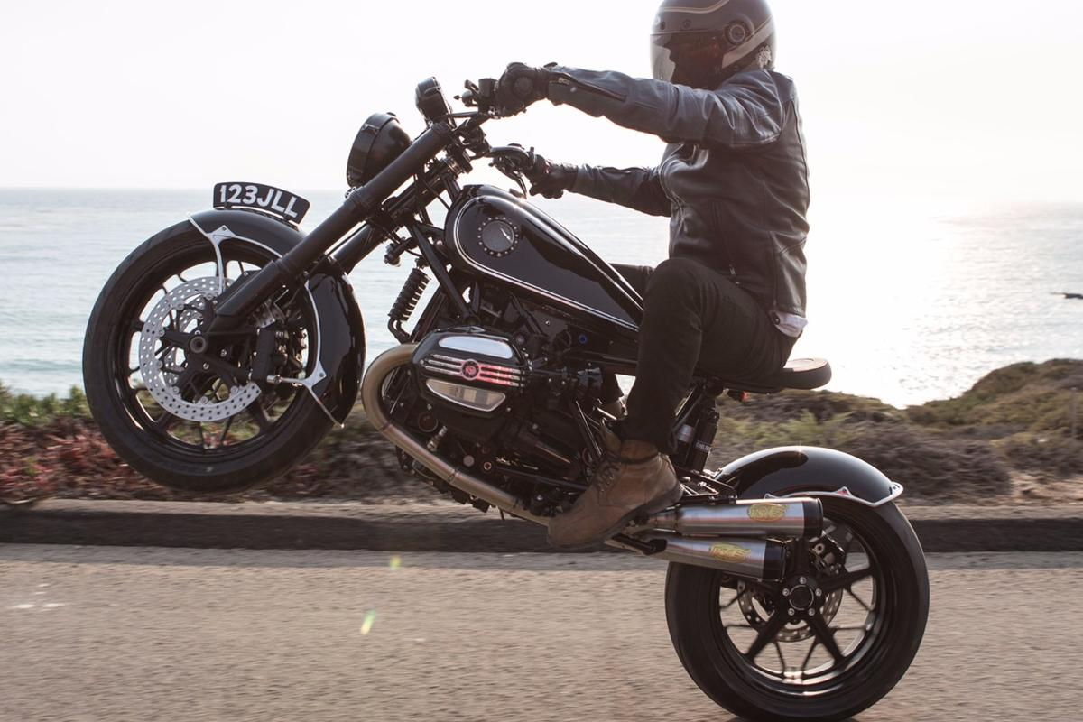 RSD BMW R NineT Classic:looks the goods as a retro roadster, but still wheelies like the 110-horsepower beast it is.