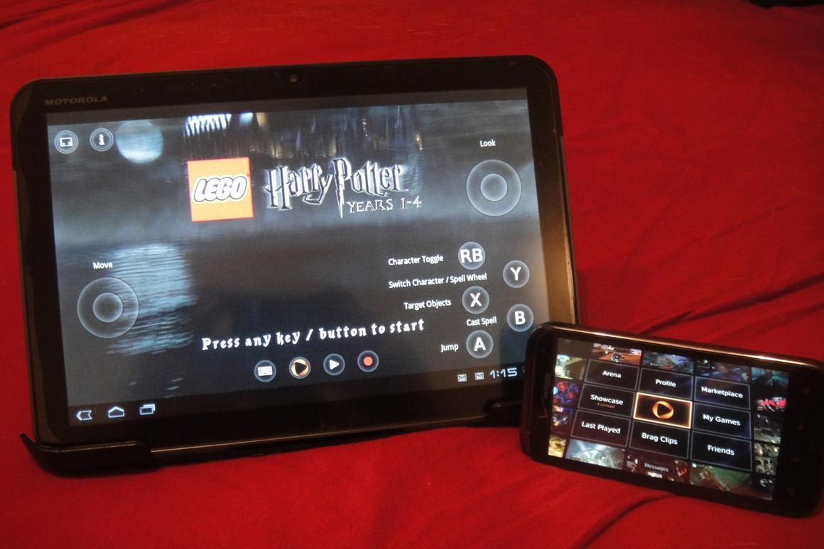 OnLive's app allows their on-demand video game service to function through any Android device