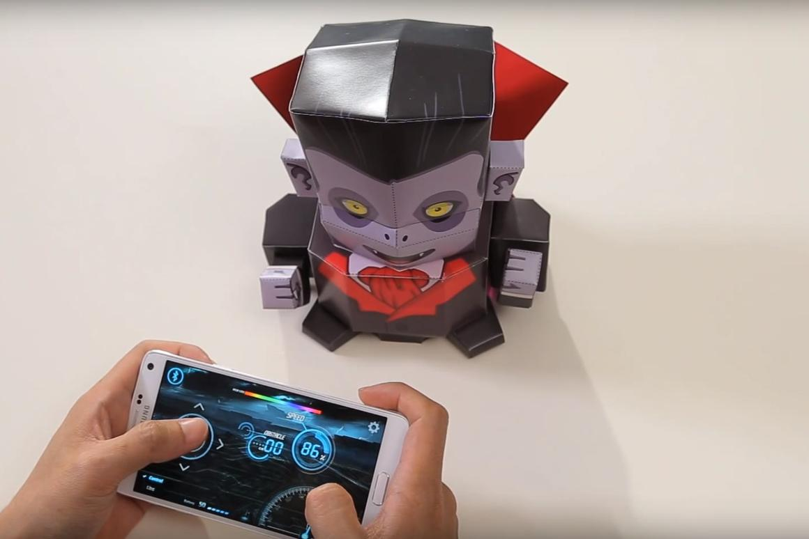 Kamibot can be remotely controlled through the mobile app for Android/iOS with Bluetooth 4.0