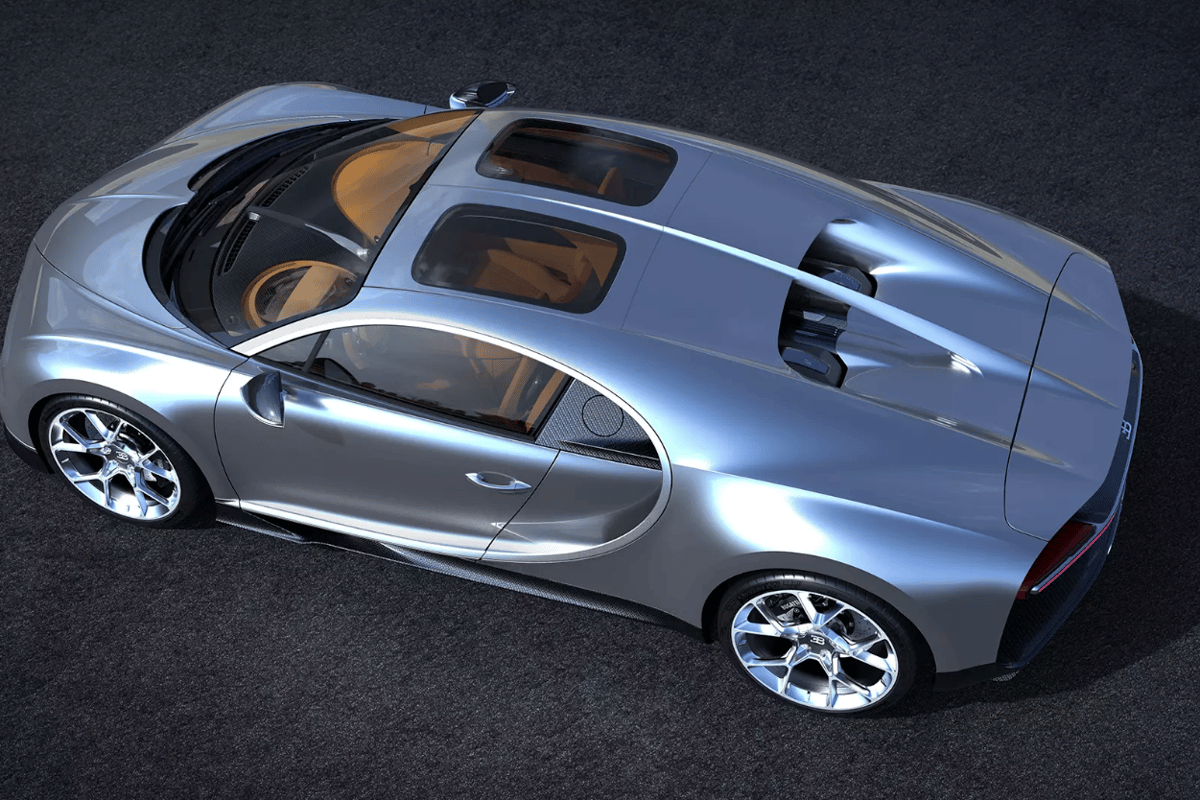 Bugatti will show the new Chiron Sky View at Monterey Car Week in August