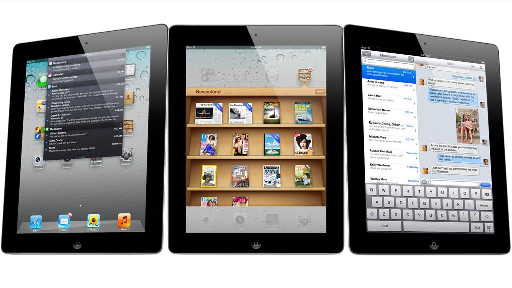 A Samsung Securities document states that Apple plans to release a 7-inch iPad later this year (iPad 2 pictured)