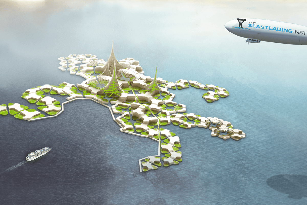 "The Seasteading Institute says the development of floating cities is the first step in fulfilling what it calls the ""8 Great Moral Imperatives"""