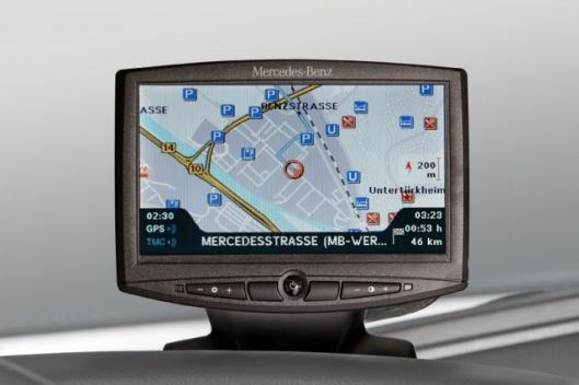 Mercedes Benz truck navigation system