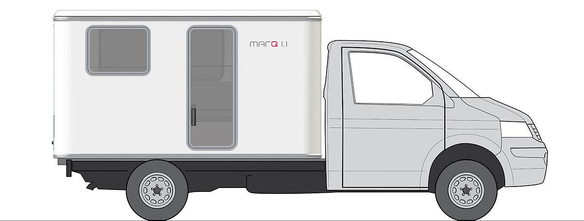 Rendering of a VW Bus Marq camper