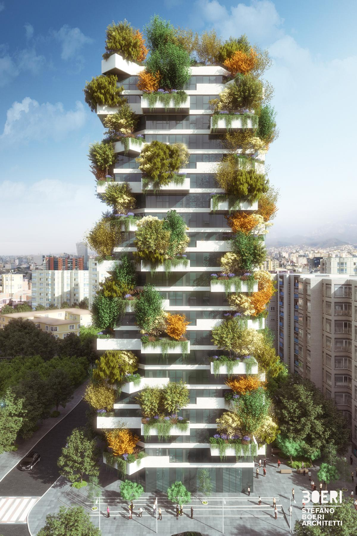 The Vertical Forest of Tirana will rise to 21 floors