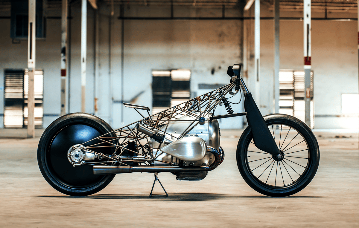 Like a skeletal ghost bike, Revival's Birdcageis built around a mystery motor that heralds a new long-stroke BMW engine platform