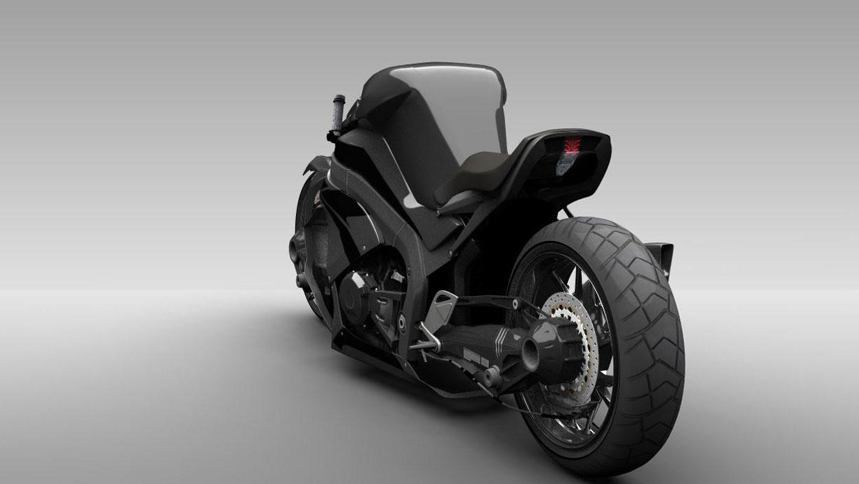 The Ostoure super-naked motorcycle concept(credit: M. R. Shojaie)