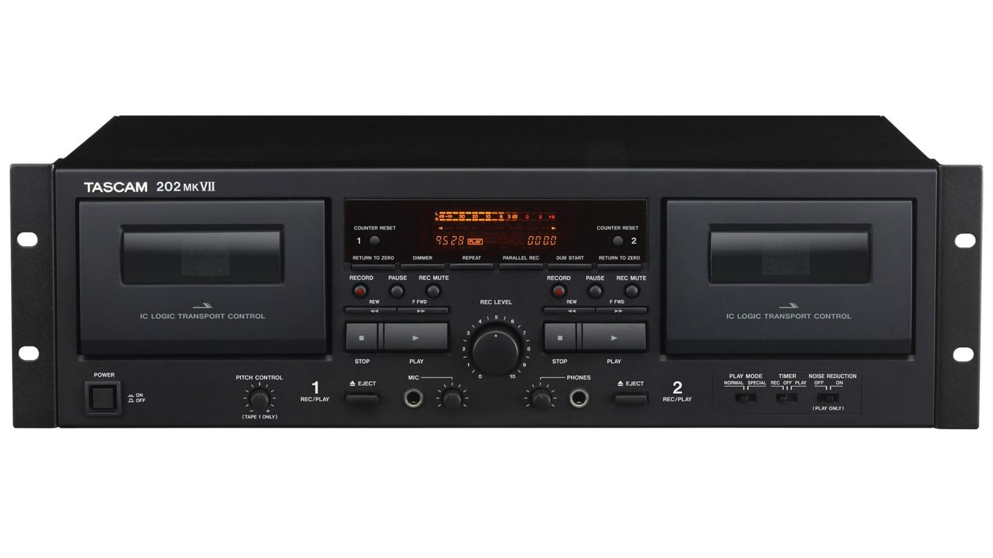 The Tascam 202mkVII dual cassette deck is available now