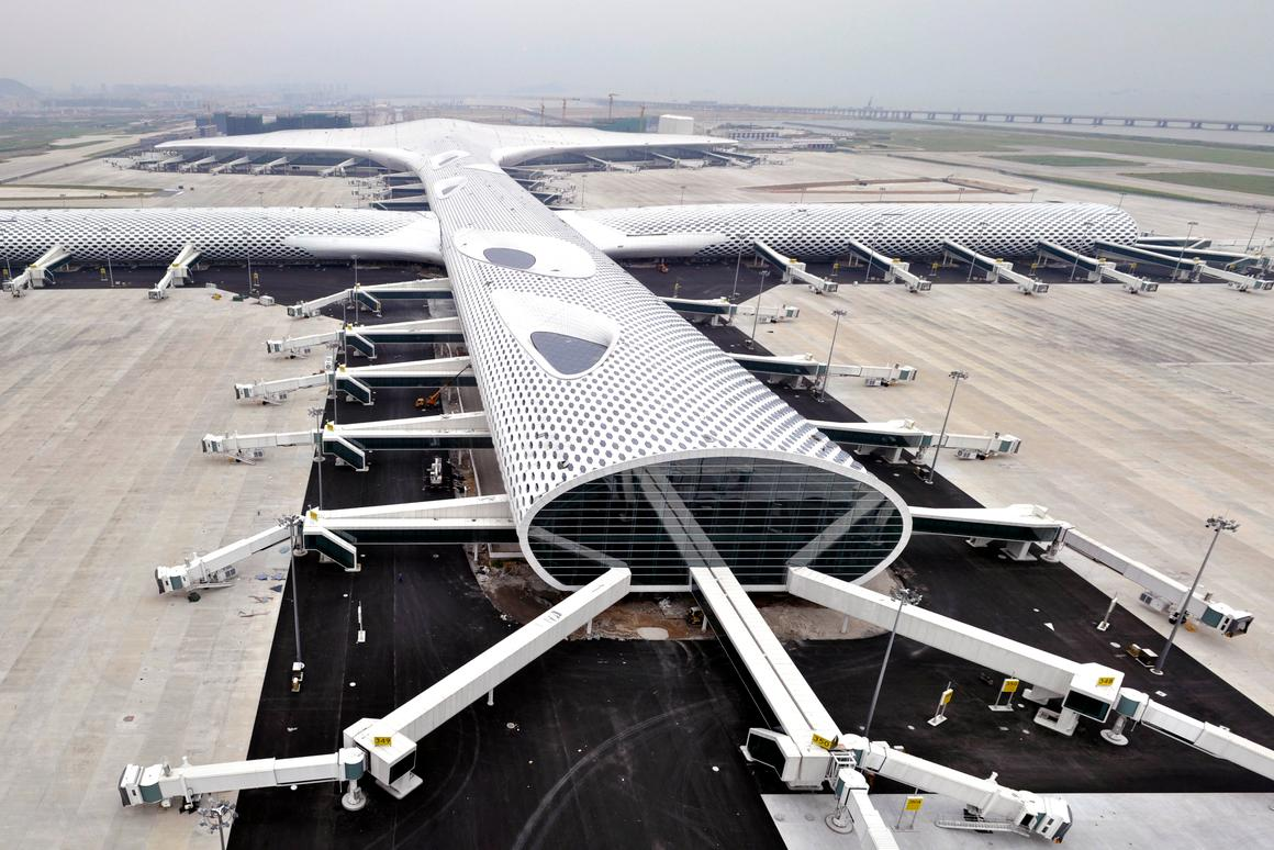 Shenzhen Bao'an International Airport Terminal 3, designed by Studio Fuksas (Photo: Studio Fuksas)