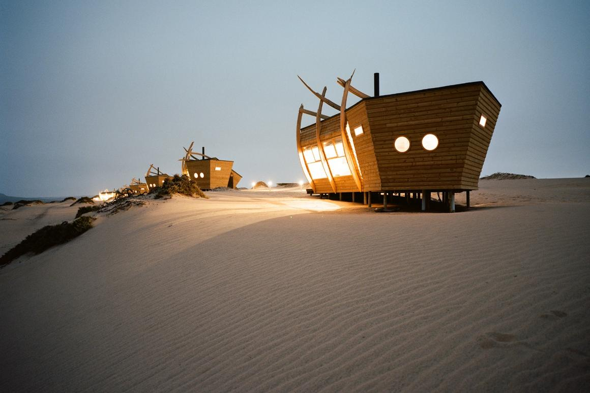 Shipwreck Lodgeis a collection of 10 eco-minded cabins inside Skeleton Coast National Park