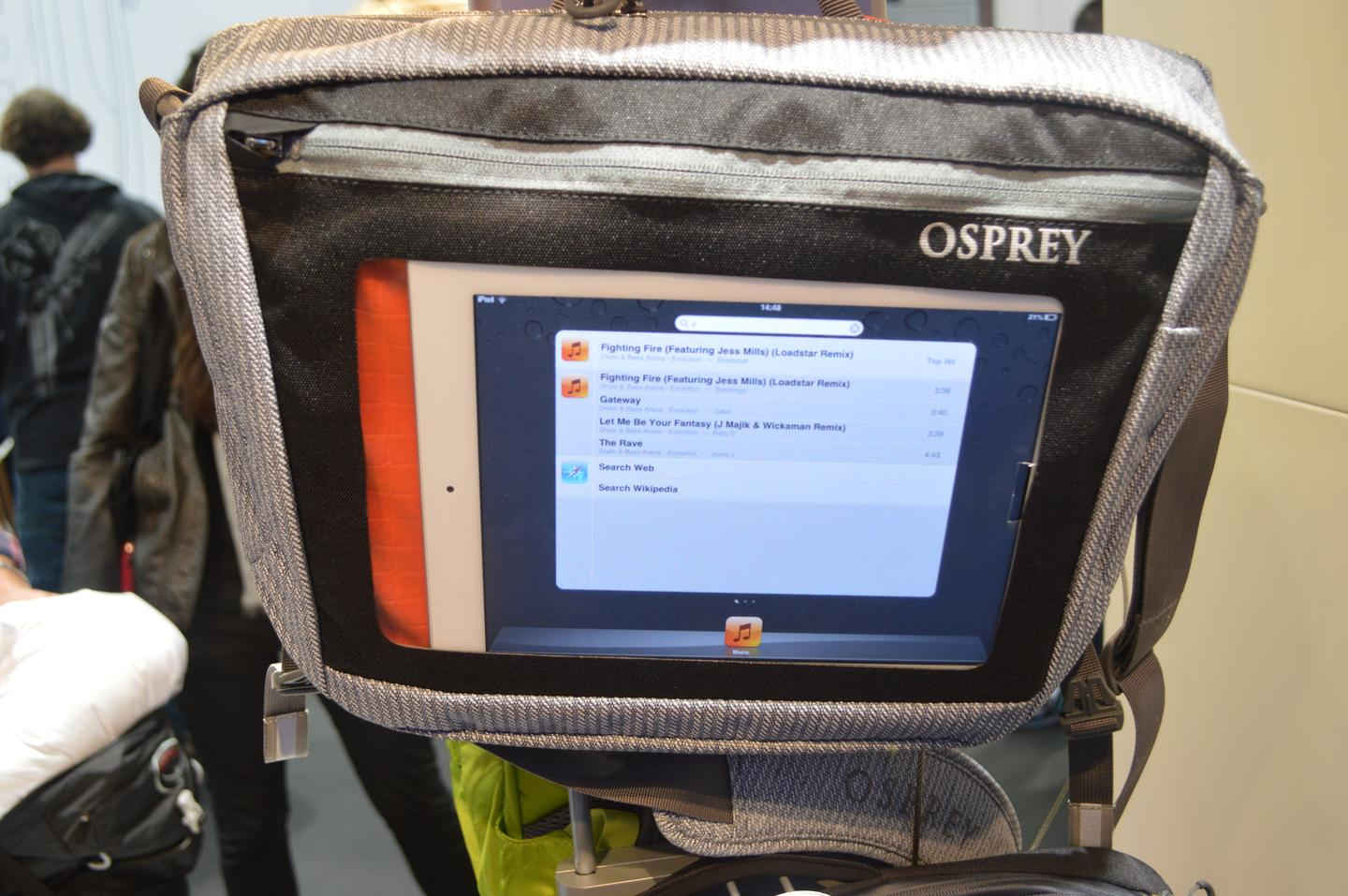 The Port provides direct access to a tablet screen