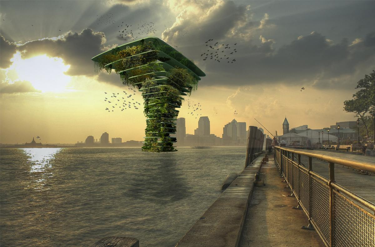 The spectacular Sea Tree concept isdesigned for flora and fauna where cities have no land left for animals or plants to thrive. The estimated cost is€1million (US$1.18 million)and the entire structure is tethered to the sea bed by cables