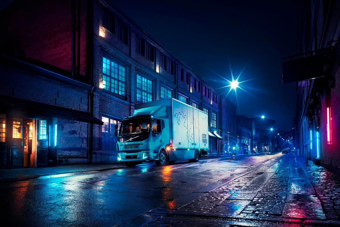 The Volvo FL Electric is fully electrified, operating as a battery-electric truck