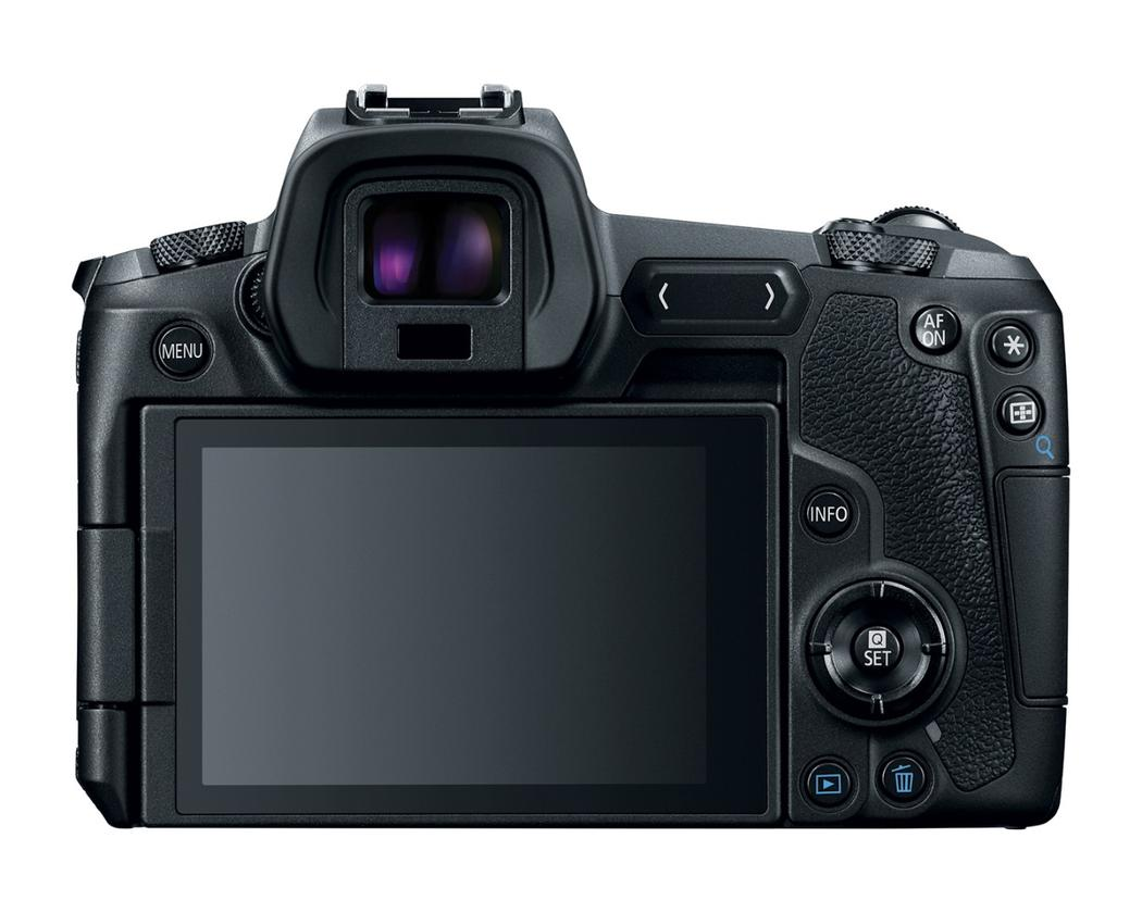 A Multi-Function Bar is located next to the EVF on the EOSRto allow tap and slide settings changes